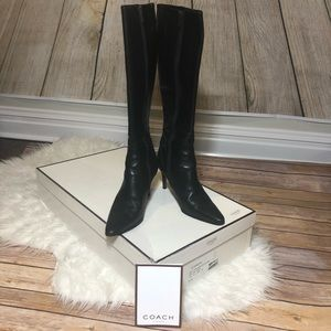 100% Authentic Coach Black Marin tall boots size 6